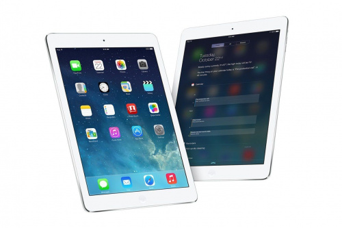 Apple iPad Air 32Gb Wi-Fi + Cellular (MD795RU) Серебристый вид спереди